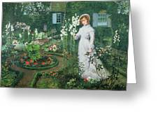Queen Of The Lilies Greeting Card by John Atkinson Grimshaw