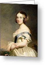 Queen Victoria Greeting Card by Franz Xavier Winterhalter