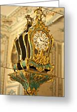 Queen's Clock Greeting Card by Nomad Art And  Design