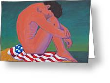 Questioning Patriotism Greeting Card by Frank Strasser