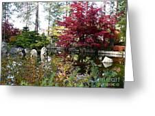 Quiet Autumn Pond Greeting Card by Carol Groenen