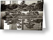 Quiet Moment In Tokyo Greeting Card by Carol Groenen