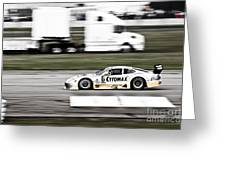 Racing By Greeting Card by Darcy Michaelchuk