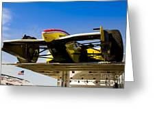 Racing Car Nose Greeting Card by Darcy Michaelchuk