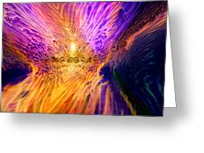 Radiant Flow Greeting Card by Jason Fish