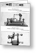 Radio Receiver Components, 1914 Greeting Card by