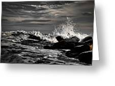 Raging Seas Greeting Card by David Hahn