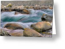Raging Waters Greeting Card by Naman Imagery
