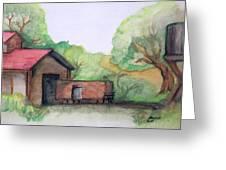Railyard Greeting Card by Timothy Hawkins