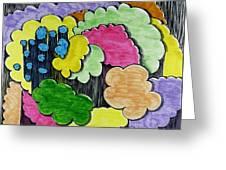 Rain Clouds Greeting Card by Lesa Weller
