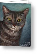 Rain The Cat Greeting Card by Kostas Koutsoukanidis