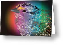 Rainbow Bird Greeting Card by Michelle Bergersen