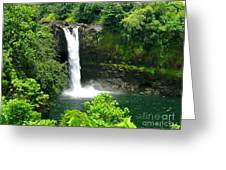 Rainbow Falls Greeting Card by Silvie Kendall