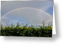 Rainbow In Warwick Greeting Card by Vicki Jauron
