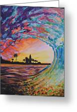 Rainbow Jawz Wave Greeting Card by Anne Provost