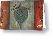 Rainbow Leaves 1 Greeting Card by Debbie DeWitt