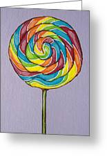 Rainbow Lollipop Greeting Card by Sandy Tracey