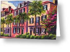 Rainbow Row Charleston Sc Greeting Card by Jeff Pittman