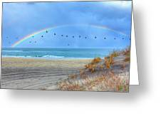 Rainbows And Wings I Greeting Card by Dan Carmichael