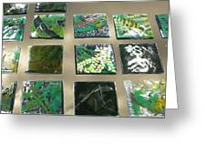 Rainforest Tile Prints Greeting Card by Sarah King