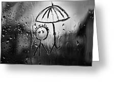 Raining Again Greeting Card by Sunkies Fang