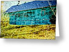 Rainy Barn Greeting Card by Jill Hyland