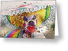 Rainy Day Clown Greeting Card by Steve Ohlsen