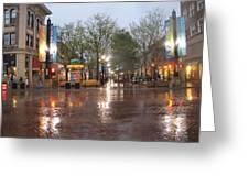 Rainy Night In Boulder Greeting Card by Shawn Hughes