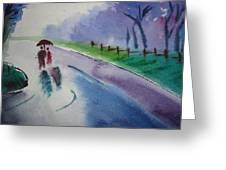 Rainy Season Greeting Card by Vijayendra Bapte