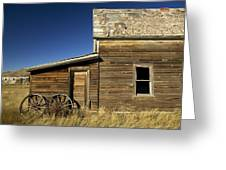 Ranchers House In Prairie Semi-ghost Greeting Card by Pete Ryan