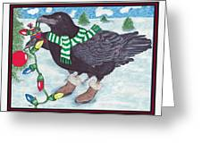 Ravens Holiday Greeting Card by Marla Saville