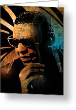 Ray Charles Greeting Card by Paul Sachtleben
