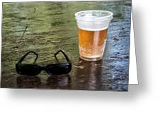 Raybans And A Beer Greeting Card by Bill Cannon