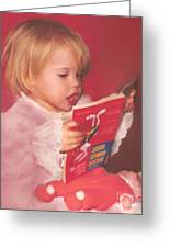Reading To Her Baby Greeting Card by McKenzie Leopold