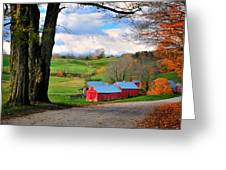 Reading Vermont - Jenne Road Greeting Card by Thomas Schoeller