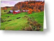 Reading Vermont Scenic Greeting Card by Thomas Schoeller