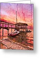 Ready To Sail Greeting Card by Debra and Dave Vanderlaan