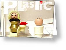 Real Plastic Greeting Card by Ricky Sencion