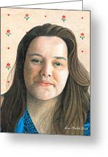 Rebecca - Puso Coracao Greeting Card by Ana Tirolese