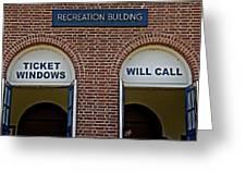 Rec Hall Greeting Card by Tom Gari Gallery-Three-Photography
