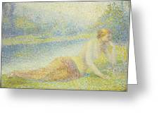 Reclining Nude Greeting Card by Hippolyte Petitjean