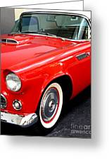 Red 1955 Ford Thunderbird Greeting Card by Wingsdomain Art and Photography
