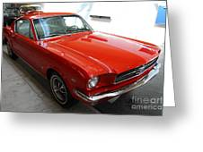 Red 1965 Ford Mustang Greeting Card by Wingsdomain Art and Photography