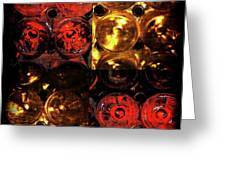 Red and White Wine Collage Greeting Card by Joan  Minchak