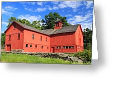 Red Barn at Bryant Homestead Greeting Card by John Burk
