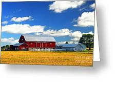 Red Barn Greeting Card by Elena Elisseeva