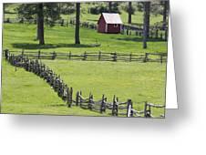 Red Barn On Highway 160 Near Pagosa Greeting Card by Rich Reid