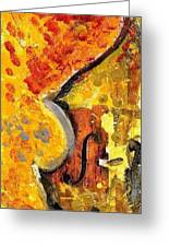 Red Bass Greeting Card by Eric HERVE