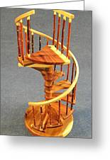 Red Cedar Rustic Spiral Stairs Greeting Card by Don Lorenzen