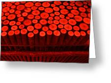 Red Circle Sticks Greeting Card by Kym Backland